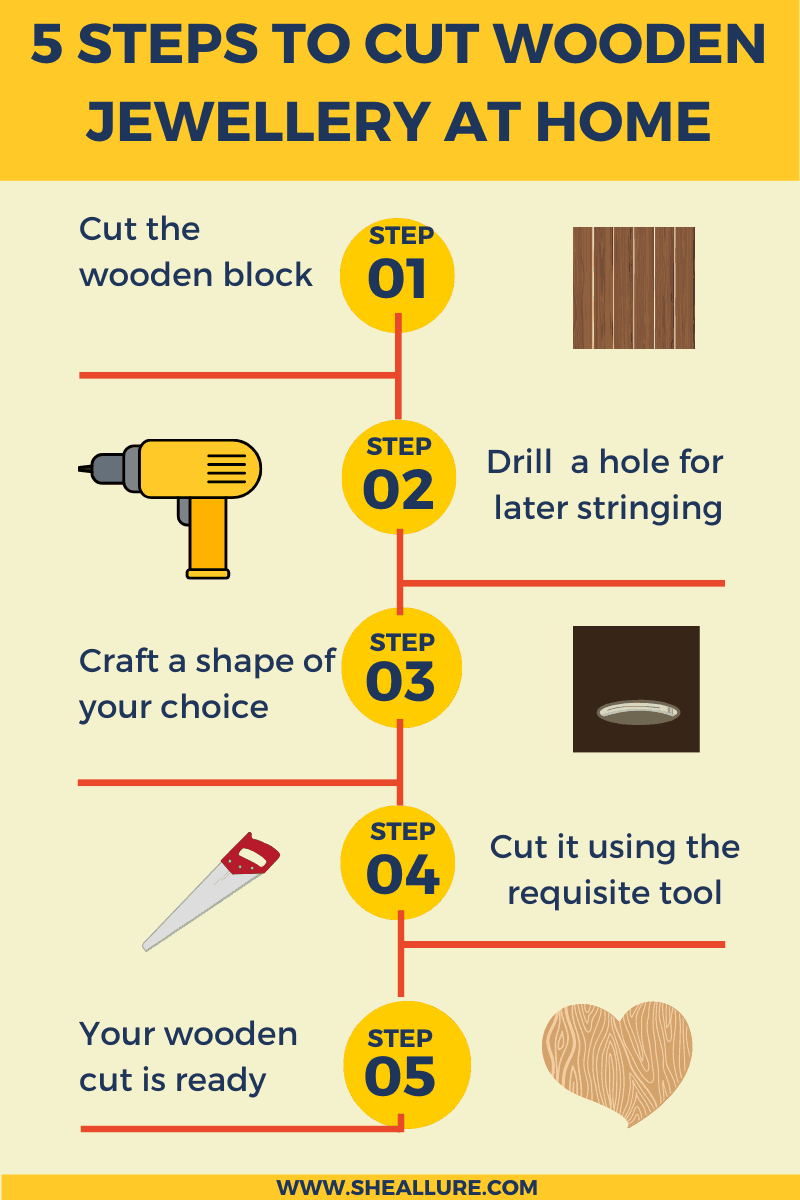 How to cut wooden jewellery at home