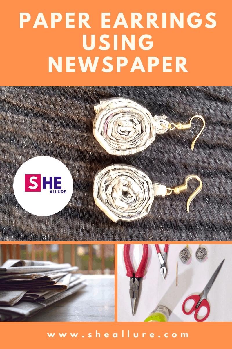 Paper Jewellery using Newspaper
