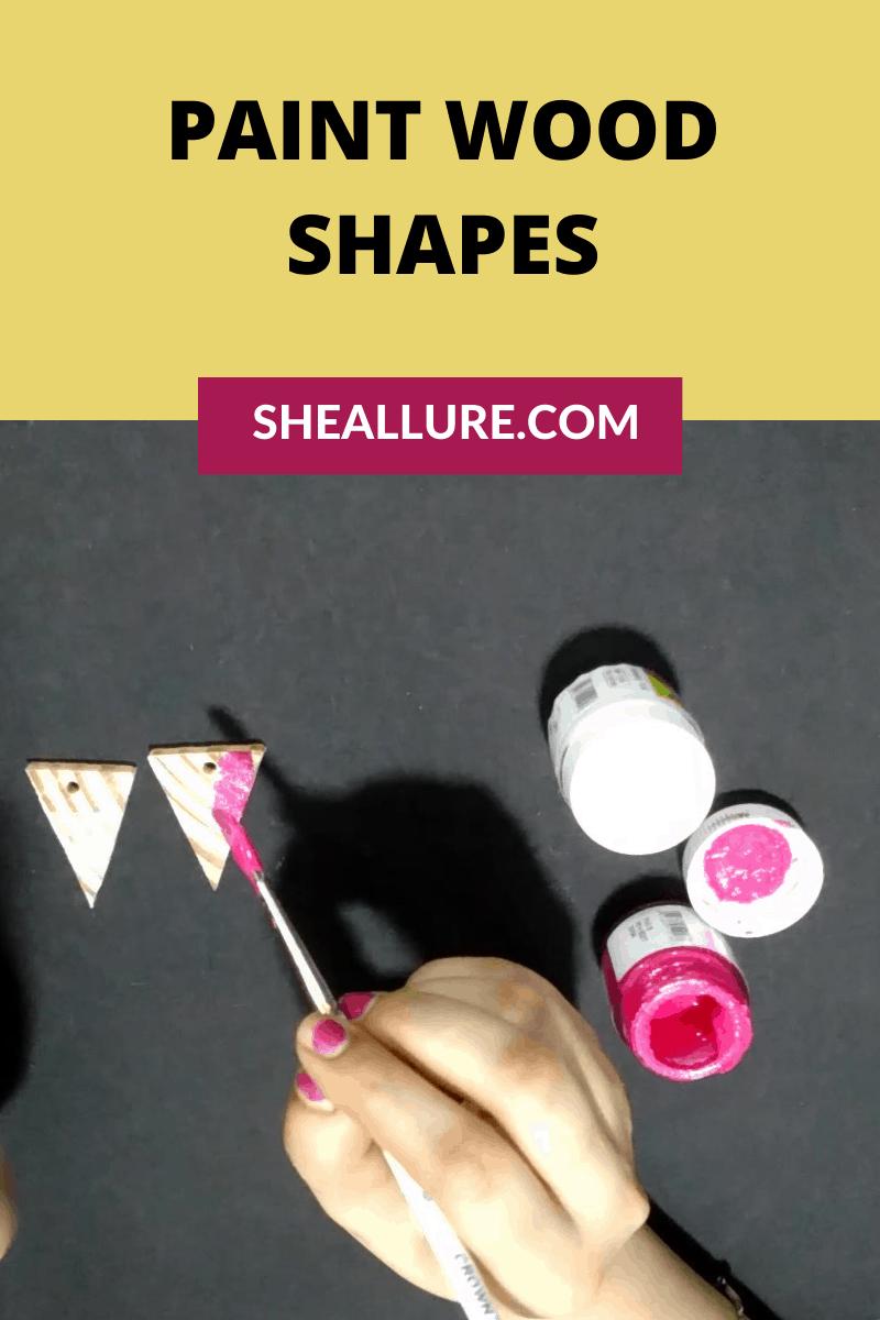 Paint wood shapes