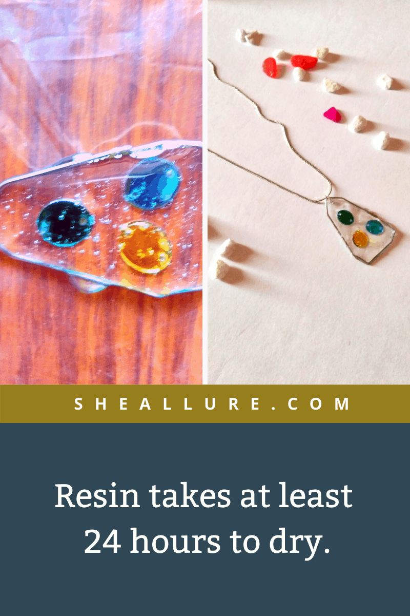 How long does resin jewellery to dry?