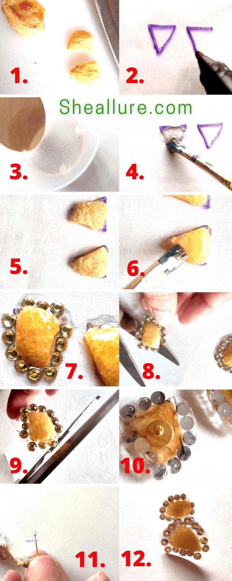 DIY Dried Apricot Earrings