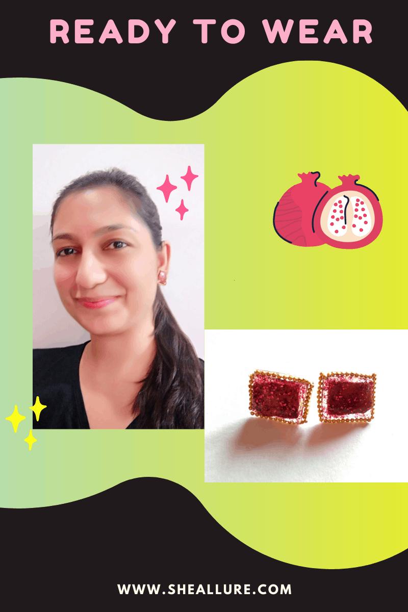 How to make dried fruit earrings?