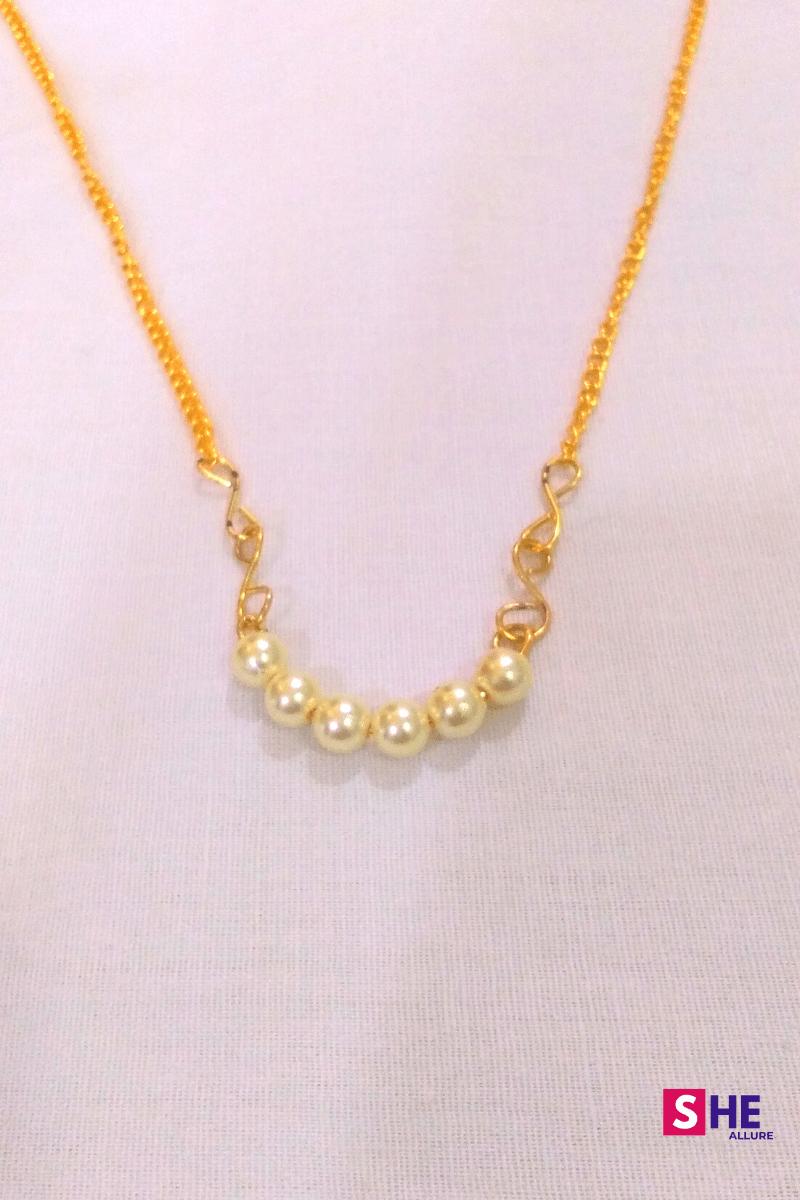 Simple Wire Pearl Pendant Idea