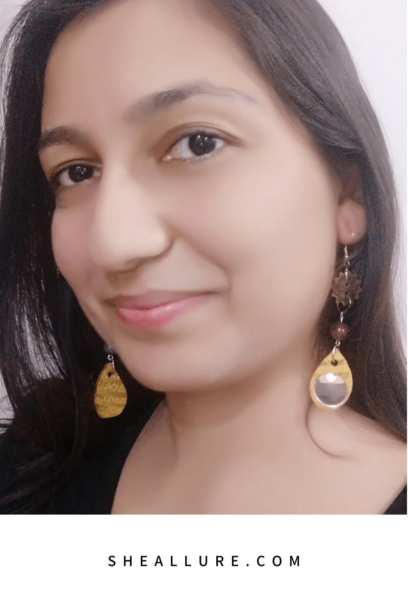 Button Earrings ready to wear